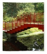 Red Bridge  Fleece Blanket