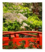 Red Bridge Springtime Fleece Blanket