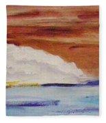 Red Brown Sky Fleece Blanket