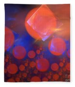 Red Bubble Suns Fleece Blanket