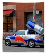 Red Bull Car Fleece Blanket