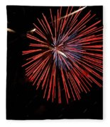 Red Burst Fleece Blanket