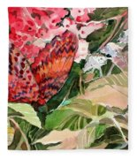 Red Butterfly Fleece Blanket