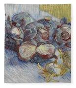 Red Cabbages And Onions Paris, October - November 1887 Vincent Van Gogh 1853  1890 Fleece Blanket