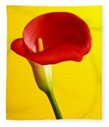 Red Calla Lilly  Fleece Blanket