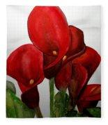 Red Callas Fleece Blanket