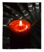 Red Candle Fleece Blanket