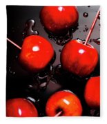 Red Candy Apples Or Apple Taffy Fleece Blanket
