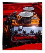 Red Car Engine  Fleece Blanket