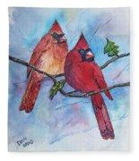 Red Cardinals Fleece Blanket
