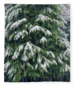 Red Cedar And Snow Fleece Blanket
