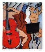 Red Cello 2 Fleece Blanket