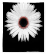 Red Center Daisy Fleece Blanket