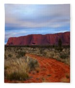 Red Center Dawn Fleece Blanket