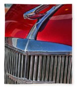 Red Chevrolet Grill And Hood Ornament Fleece Blanket