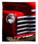 Red Chevy Truck Fleece Blanket