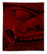 Red Chinese Dragon Fleece Blanket