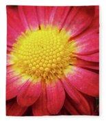 Red Chrysanthemum Fleece Blanket