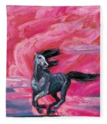 Red Cloud Horse Fleece Blanket