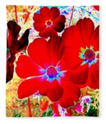 Red Cosmos Fleece Blanket