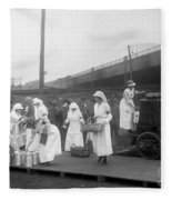 Red Cross: Canteen, C1918 Fleece Blanket