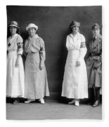 Red Cross Corps, C1920 Fleece Blanket