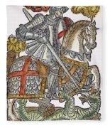 Red Cross Knight, 1598 Fleece Blanket