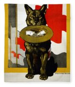 Red Cross Poster, 1917 Fleece Blanket