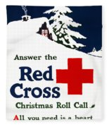 Red Cross Poster, C1915 Fleece Blanket