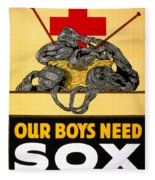 Red Cross Poster, C1917 Fleece Blanket