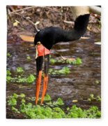 Red-crowned Crane Fleece Blanket