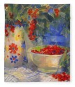 Red Currants Fleece Blanket