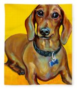 Red Dachshund - Tigger Smiles Fleece Blanket