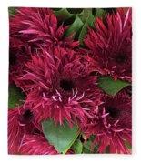 Red Daisies Bouquet Fleece Blanket