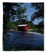 Red Dam In Summer #2 Fleece Blanket