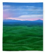 Red Dawn Over The Palouse Fleece Blanket