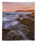 Red Dawning Fleece Blanket