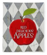 Red Delicious Apples Fleece Blanket
