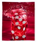 Red Dice Splash Fleece Blanket