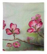 Red Dogwood - Cherokee - Springtime Fleece Blanket