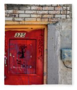 Red Door 325  Fleece Blanket