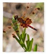 Red Dragonfly Fleece Blanket
