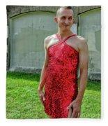 Red Dress Run - Nola 7 Fleece Blanket