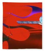 Red F-100 Fleece Blanket