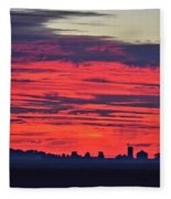 Red Farm Sunrise Fleece Blanket