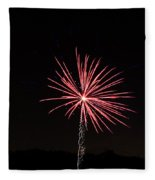 Red Fireworks Fleece Blanket
