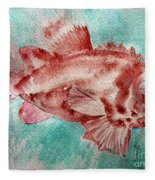 Red Fish Fleece Blanket