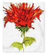 Red Flower 2 Fleece Blanket