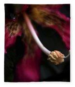 Red Flower Close Up Fleece Blanket