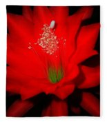 Red Flower For You Fleece Blanket